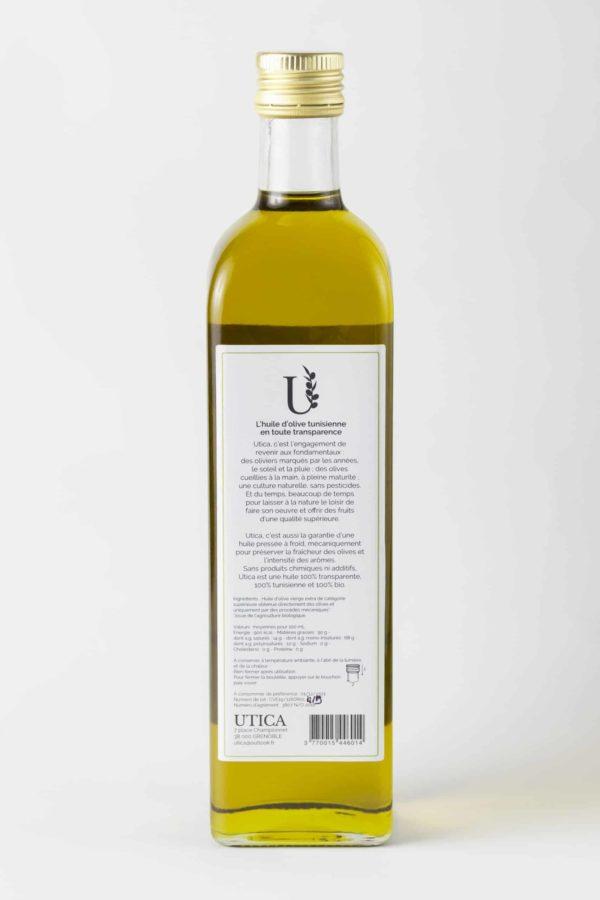 Huile d'olive bio UTICA composition