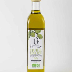 Utica, huile d'olive bio en bouteille